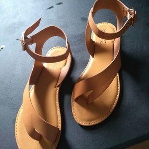 Summer sandal brown ,yellow,black,orange,,white,